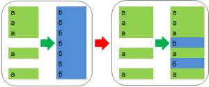 Вставка с учетом пустых строк Excel