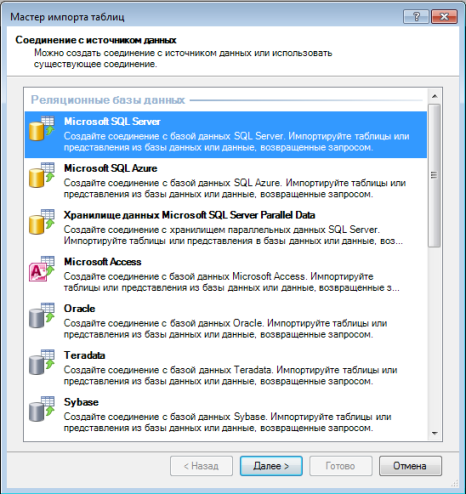 импорт данных powerpivot