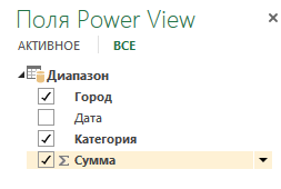 Поля PowerView