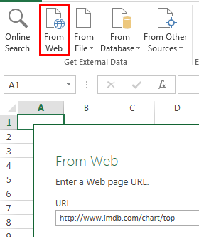 From web power query